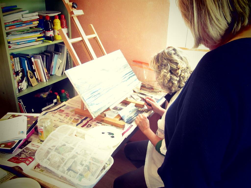 Corsi di Pittura ad Anzio, Roma con la Pittrice Quotata Yvonne Gandini